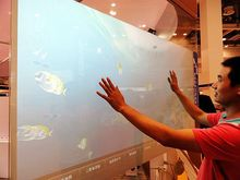 ShenZhen XintaiTouch, 55 inch Clear touch foil, 4 points interactive touch foil, USB touch film for glass