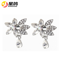 Top Quality Graceful Large Rhinestone Crystal Flower Collar Brooches Sparkly Bridal Wedding Women Floral Brooches Wholesale