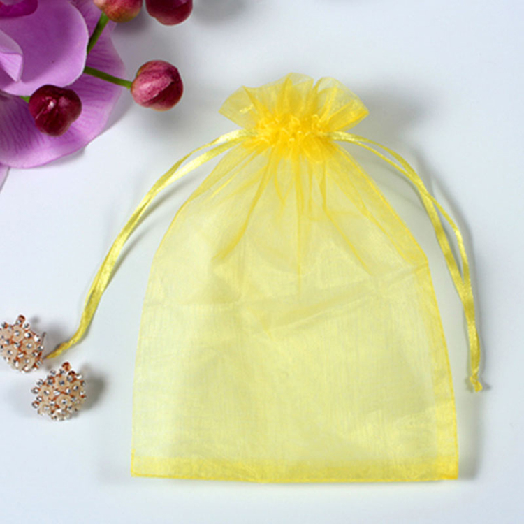 High Quality Wholesale Cheap chocolate organza jewelry bags