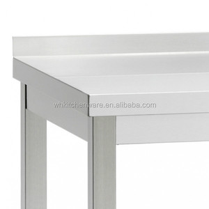 Stainless Steel wor table kitchen furniture and kitchen table for restaurant