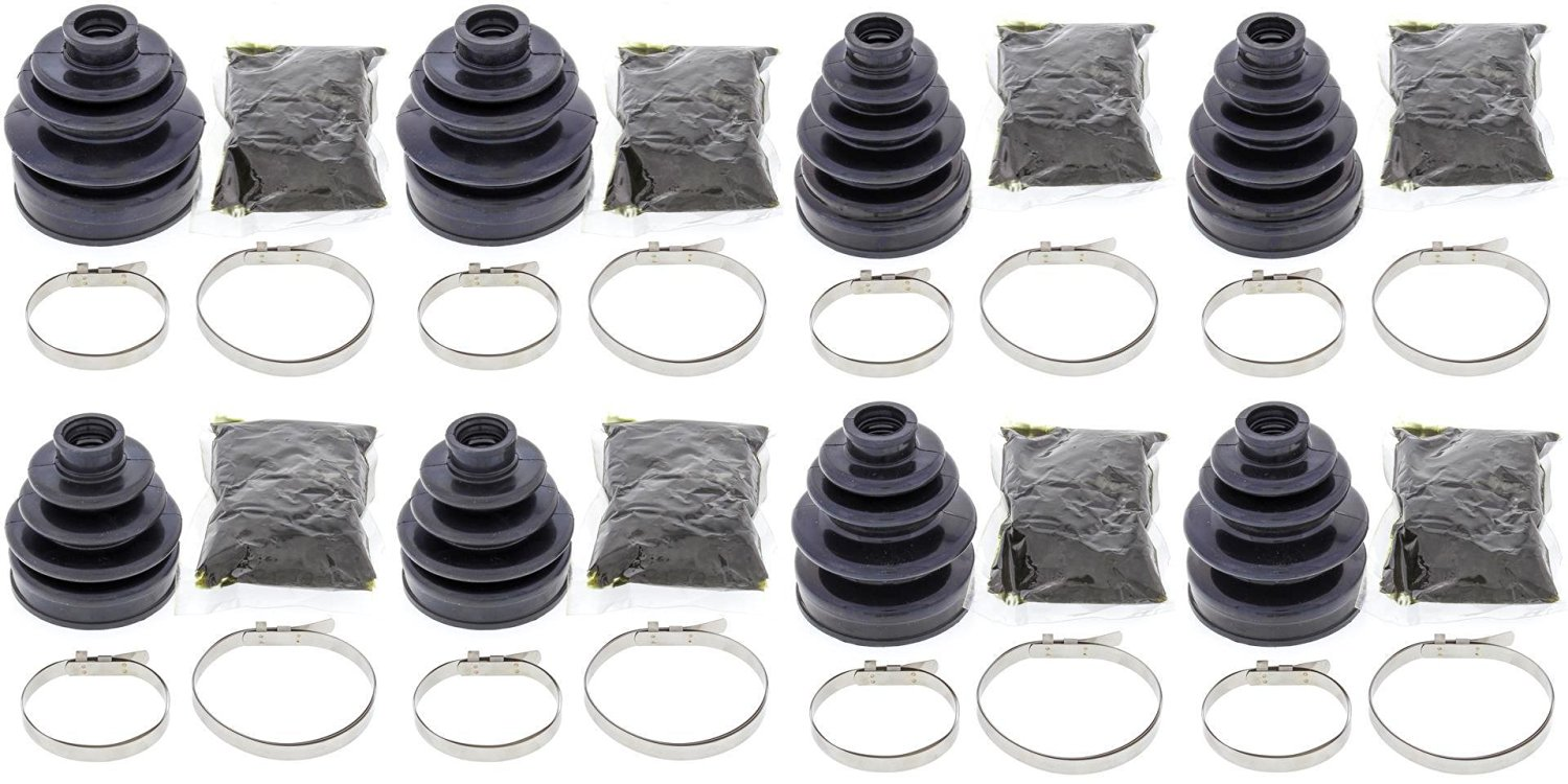Complete Front & Rear Inner & Outer CV Boot Repair Kit for Yamaha 660 RHINO 2004 All Balls
