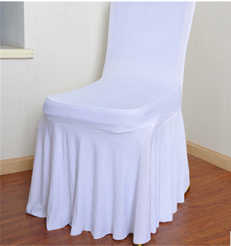 Skirted Dining Room Pleated Spandex Chair Cover