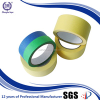 Europe Best Selling 1/2'' Good Adhesion Natural Rubber Adhesive Masking Tape