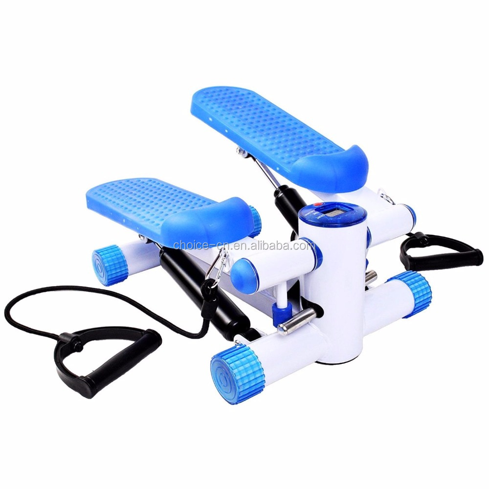 Hot Equipamentos de Fitness Mini Stepper Perna Exercício, Mini Stepper Com Corda, aptidão Twister Stepper