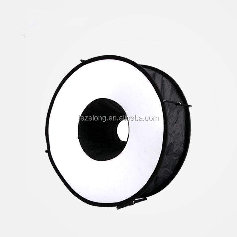 New Black 43cm Portable Round Softbox Universal Photography Studio Flash Diffuser Soft Box Strap Oxford Cloth for Camera Flash.