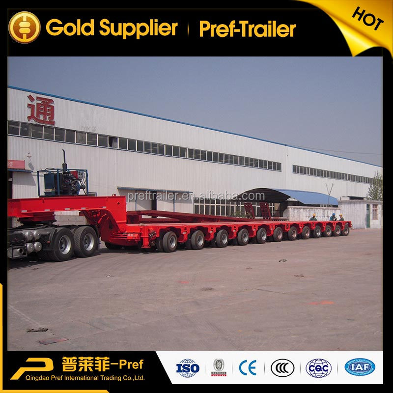 Goldhofer type 12 axles 250 tonnes hydraulic lifting modular semitrailer with power gooseneck