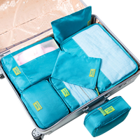 Polyester Screen Print 7pcs Travel Packing Cubes Organizer Portable Traveling storage Set