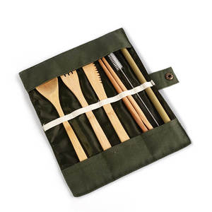 Portable High Quality Disposable Bamboo Travel Cutlery Set