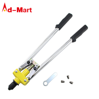Extra strong steel single hand pulling Double rod rivet gun