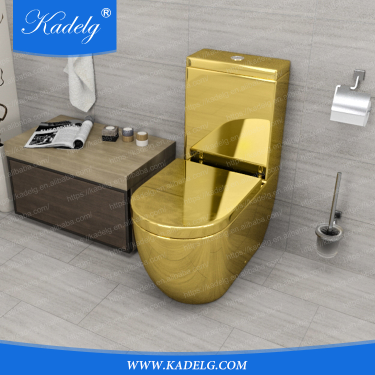 Middle East Style Luxury Design Gold Plated Two Piece Toilet