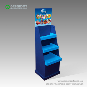 4C offset printing corrugated floor display rack 2019 new design corrugated paper floor display