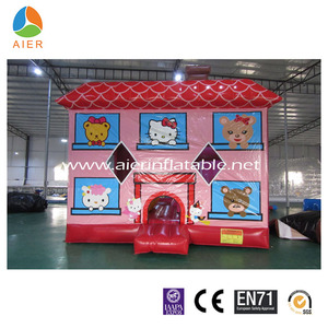 So cute hello kitty inflatable castle inflatable bouncy house jump bouncer