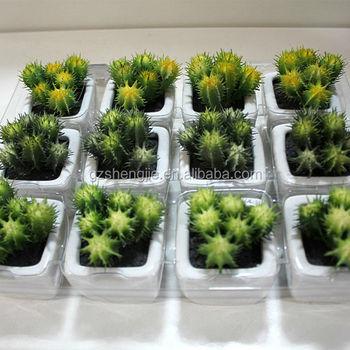 SJZZY Use For Outdoor Or Indoor Artificial Cactus Plants , Mini Artificial  Plants
