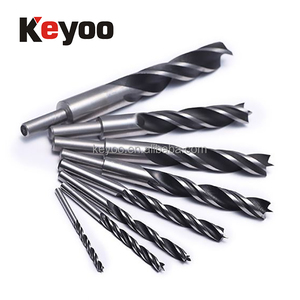 wood hand tools long auger wood boring bits for softwood black oxide coated center point