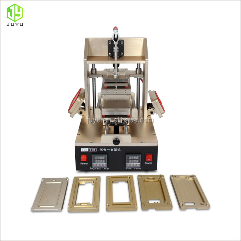 5 in 1 frame machine LCD repair machine LCD Separator Glue Remover middle frame separation glue remove frame press for iPhone