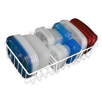 White Adjustable Food Storage Organizer Kitchen Cabinet Counter Organizer BPA-Free Rust Resistant Organizing Rack