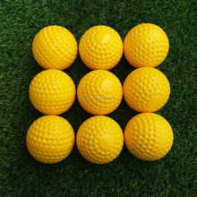 wholesale 9 inch yellow machine pitching training dimpled baseball