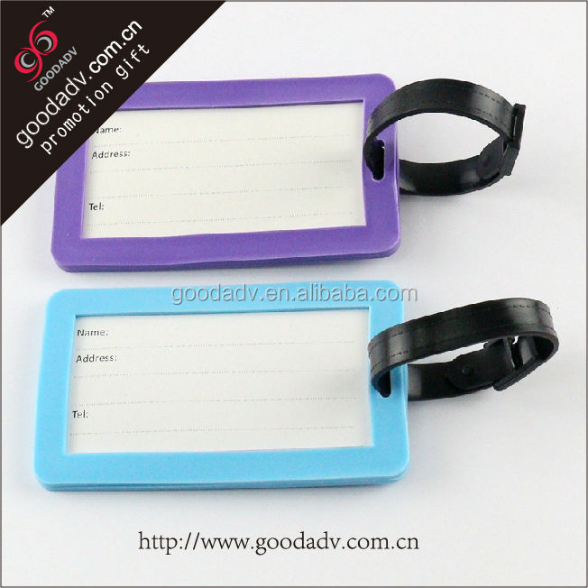(tourist novelty travel products)soft PVC luggage tag/name card