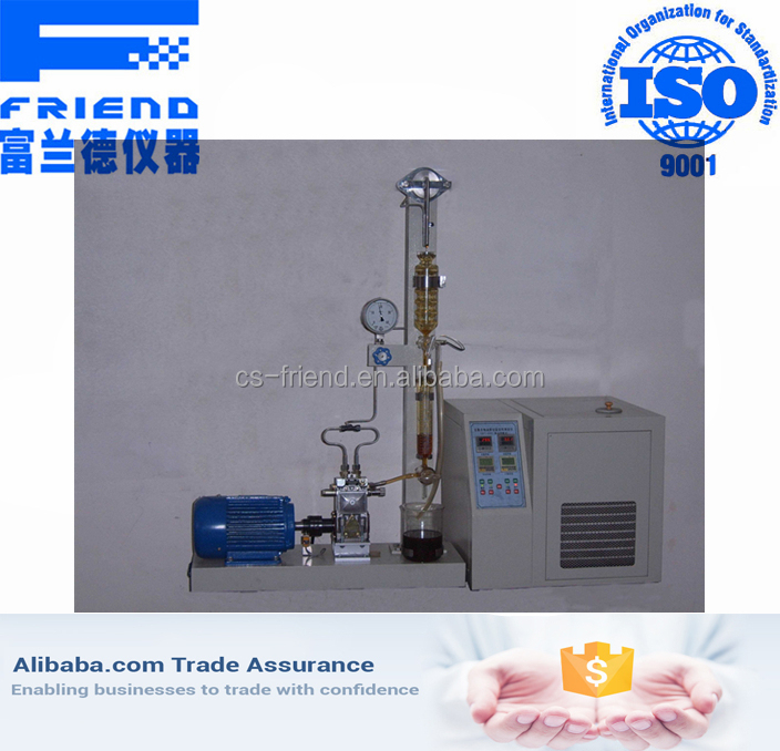 High accuracy polymer oil direct shear stability test equipment of diesel fuel nozzle method