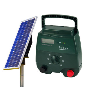 Solar powered controller, energizer livestock electric fence vegetable patch build-in controller solar fence