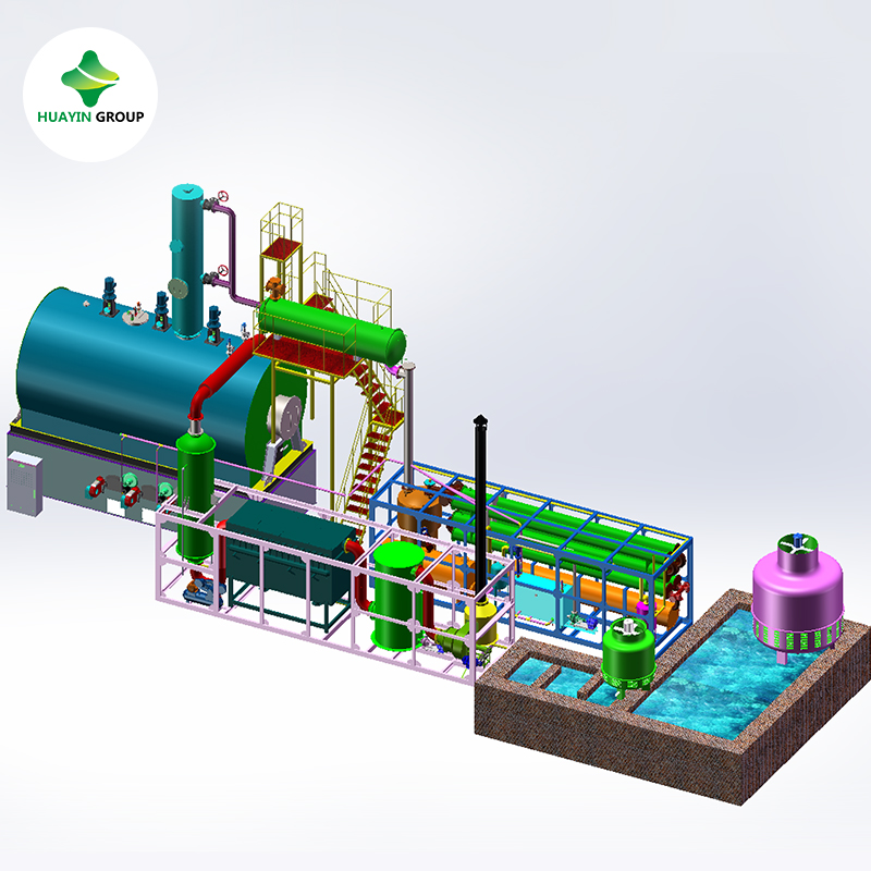 Recycle Waste Tire / Plastic Pyrolysis Oil Waste Engine Oil Waste Lubricant  Oil To Diesel Plant - Buy Recycle Waste Oil To Diesel Plant,Waste Tire /
