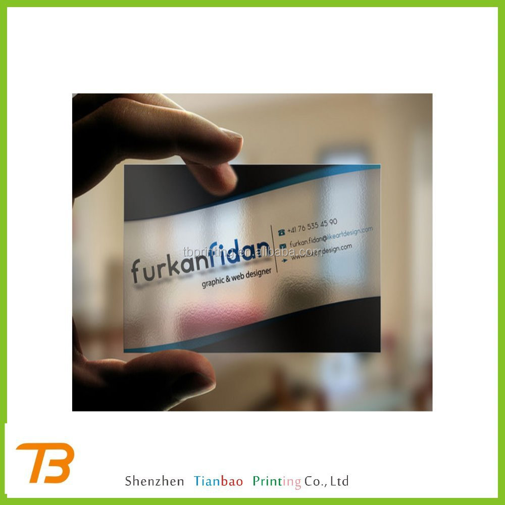Custom Logo Printed 3d Transparent Plastic Business Cards - Buy ...