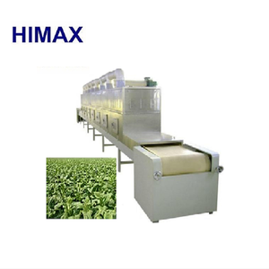 Industrial microwave tunnel dryer dehydrator machine for drying leaf