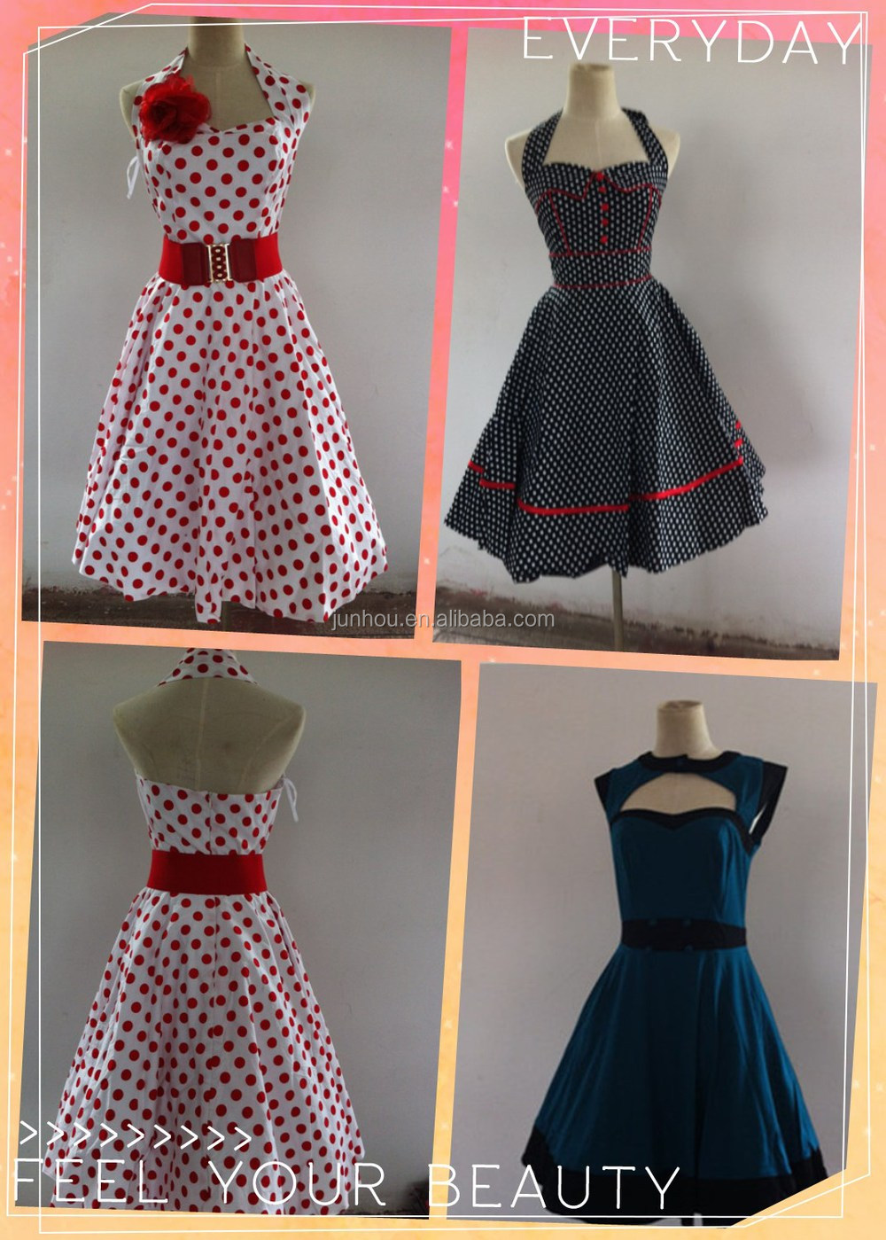 Bestdress Cheap Pin Up New Clearance Sale Vintage Style 50s Party ...