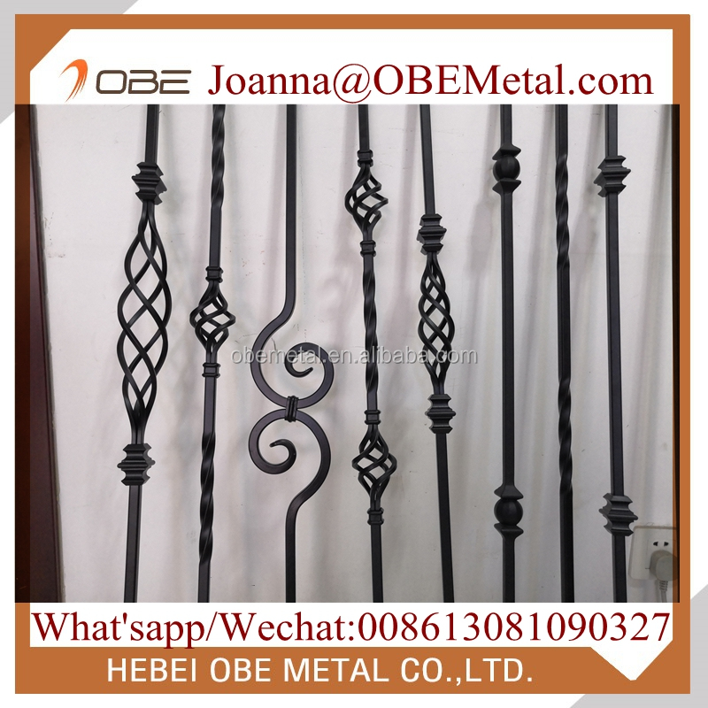 """3/4"""" Twist Round Hollow Iron Balusters Metal Stair ..."""