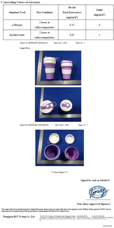 Taza plegable de silicona con Logo personalizado BLX para café