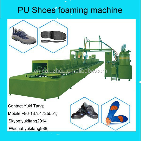 PU shoes foaming machine with annular production line