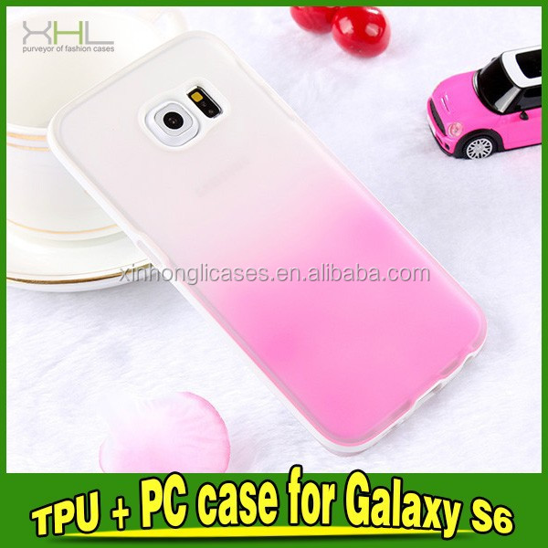 Rainbow TPU+PC Protective Phone Case For Samsung Galaxy S6