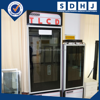 Transparent Lcd Glass Door Refrigerator Commercial Advertising
