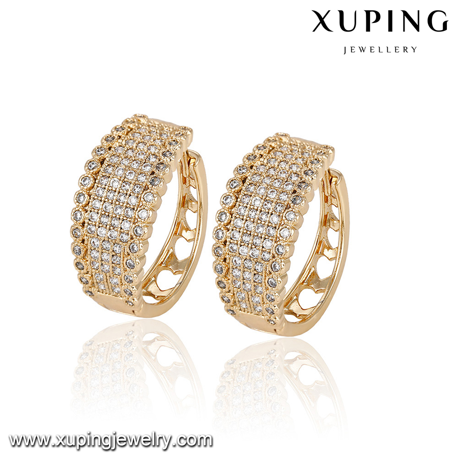 92963 Statement Jewelry 18k Gold Zircon Tanishq Diamond Earrings Fashion Product On Alibaba