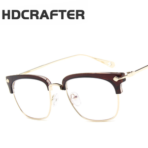 HDCRAFTER Male Female Classic frame glasses men women eye flat glasses frame