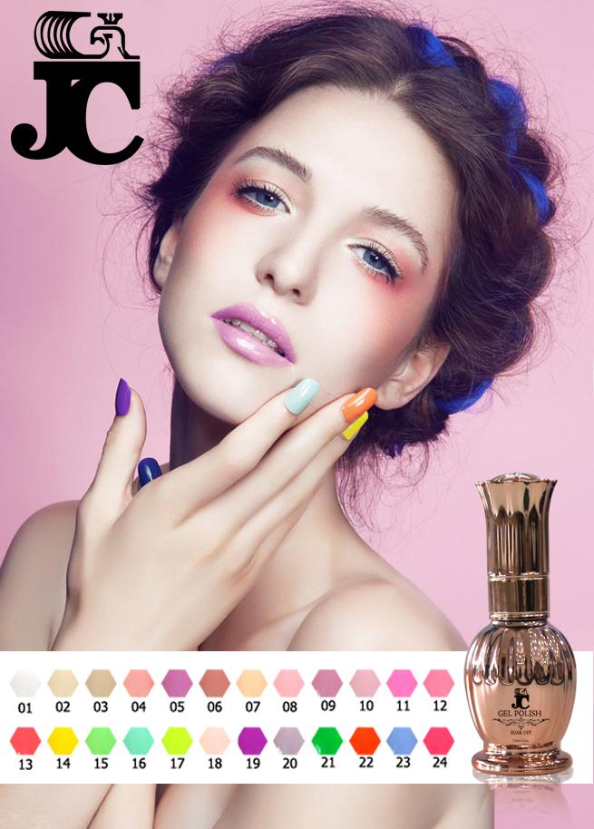JC nail gel polish 6pcs soak off 180 colors gel lacquer UV LED Long lasting Top