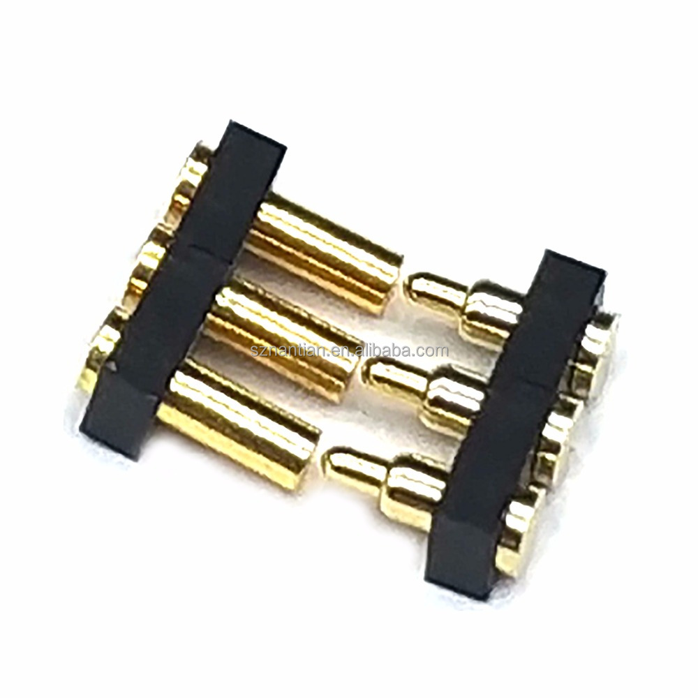 spring loaded magnetic 2.5 pitch male female POGO Pin connector 3pin