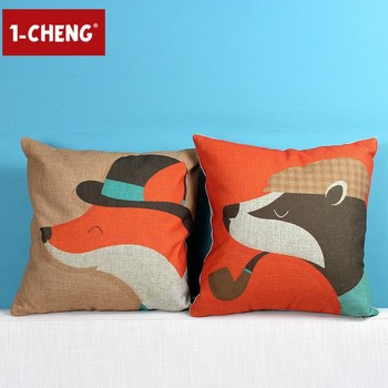 Creative Fashion Funny Fox Figure Cushion Cover Body Pillow Chair Enchanting Funny Body Pillow Covers