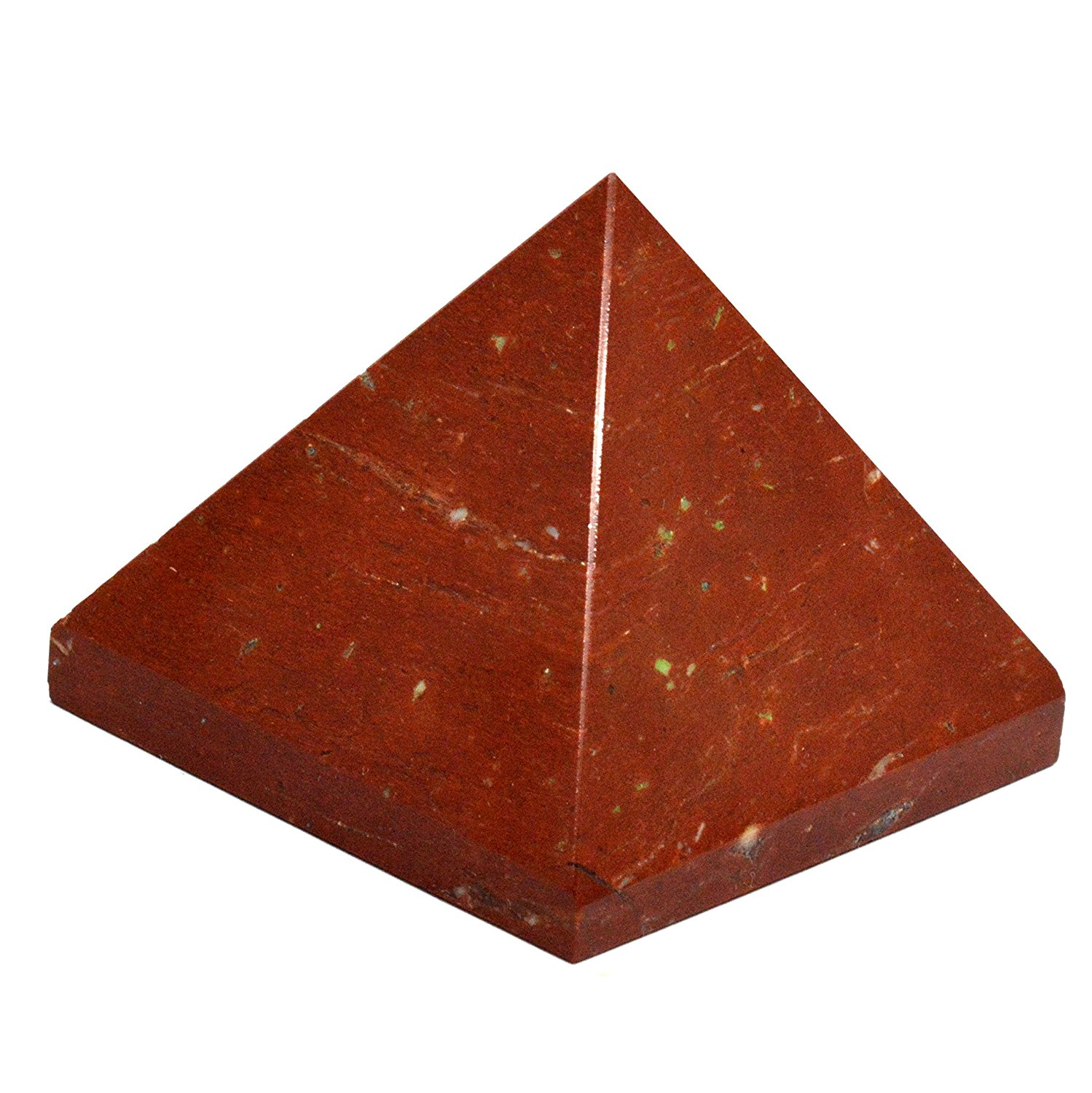 "Healing Crystals India Natural Gemstone Red Aventurine 0.8"" Pyramid Feng Shui Spiritual Reiki Healing Energy Charged Pyramid"