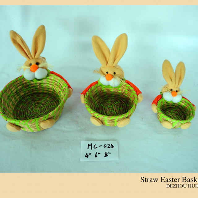 China easter promotion gift wholesale alibaba new design easter gift straw basket for promotion negle Gallery