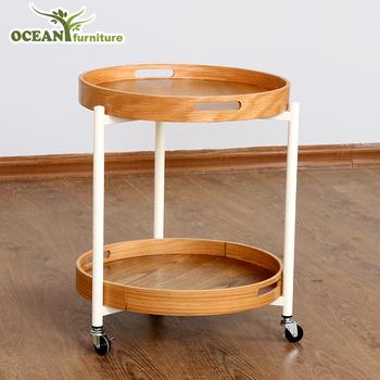 Whole Wood Tea Table Sofa Side With Wheels Product On Alibaba