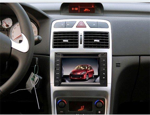 especial peugeot 307 carro dvd com gps rds bluetooth orientar o controle da roda sd usb e. Black Bedroom Furniture Sets. Home Design Ideas