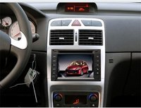 special Peugeot 307 car DVD with GPS, RDS, bluetooth, steer wheel control, SD, USB and other functions