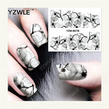 Yzwle 1 folha de DIY unhas de transferência de água Art Sticker / decalques de água prego / prego adesivos acessórios YZW-8078