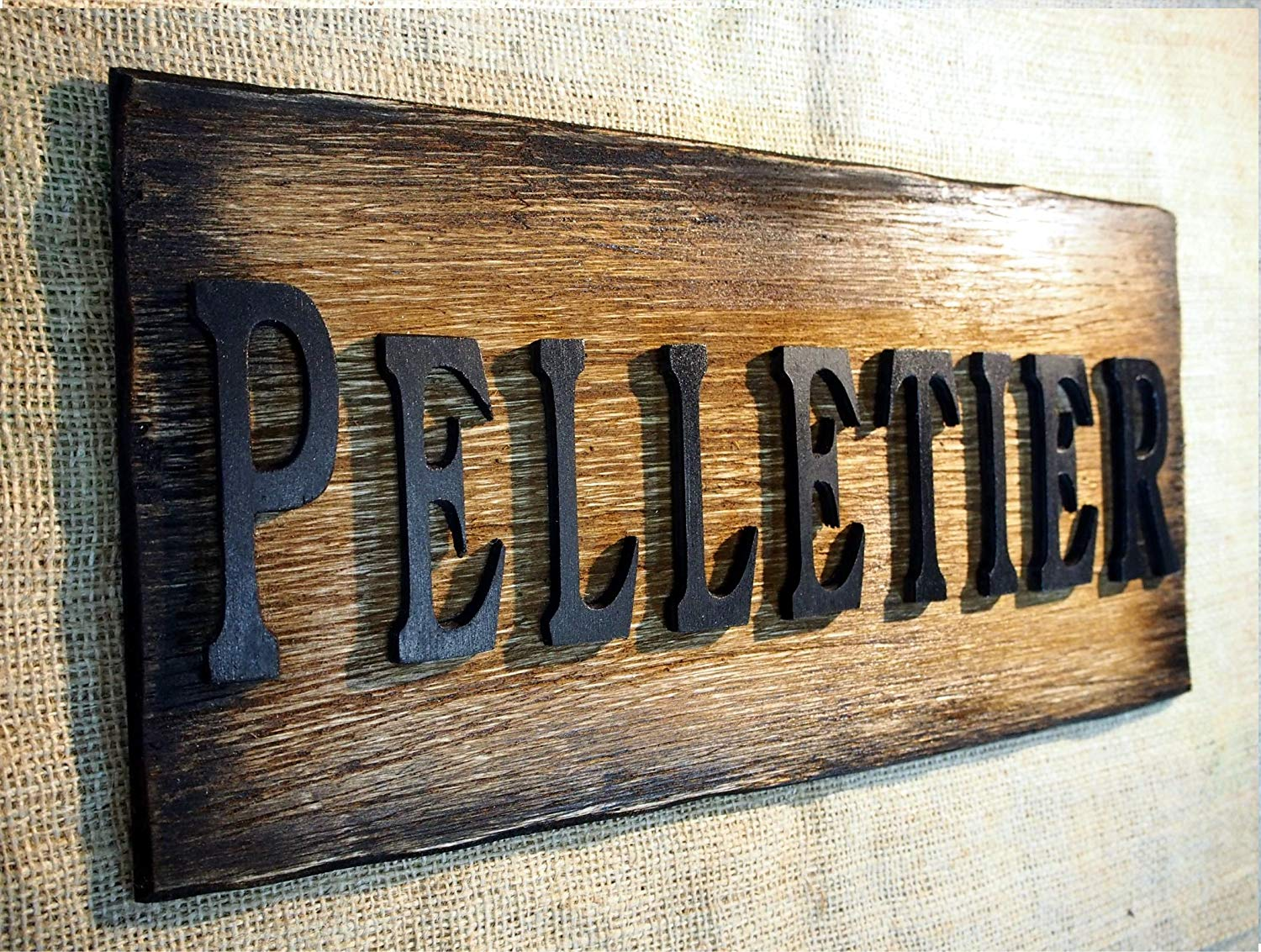 Custom Rustic Sign| The word- name of your choise on a faux antique plaque| House Address Sign| Wooden letters on a distressed wood plaque| Family name sign, address sign, cabin, housewarming gift