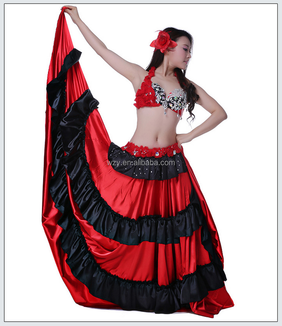 High Quality Spanish Style Red Indian Girl Sexy Dance Costumes - Buy Indian Girl Sexy -3729