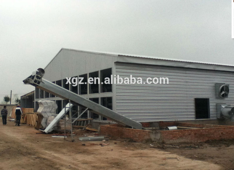 high quality design controlled Steel Structure poultry farm shed