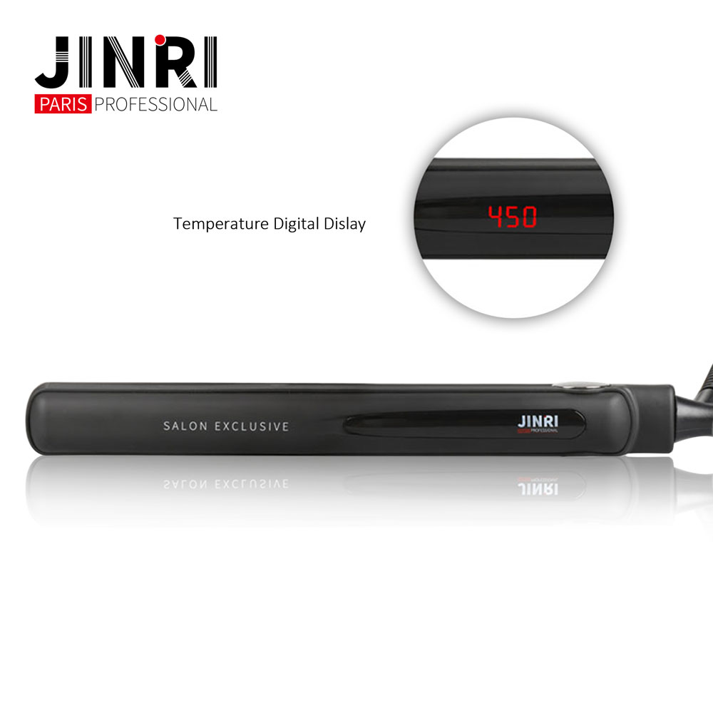JINRI 2018 Hot selling hair straightener 450F profesional hair straightener flat iron ceramic