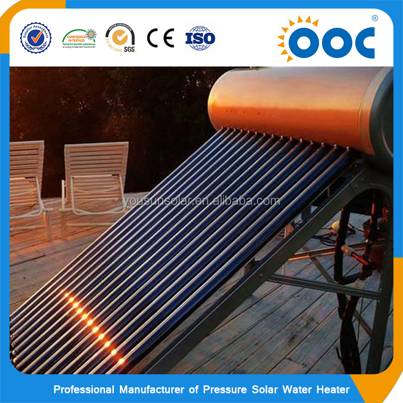 Glass Tube Hot Heat Pipe Swimming Pool High Pressure Solar Water Heater System