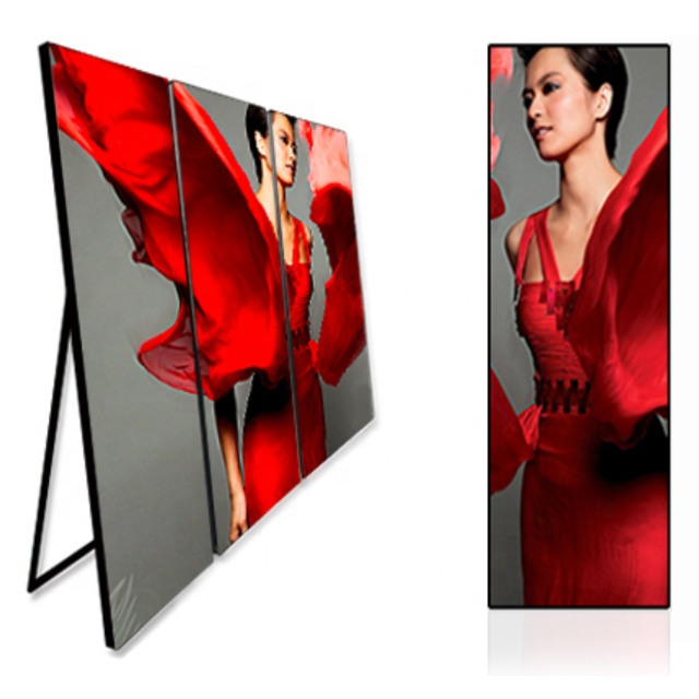 Indoor p2 P2.5 P3 p4 Poster Video Advertising Stand P3 Led Display with wifi /3G/ 4G control